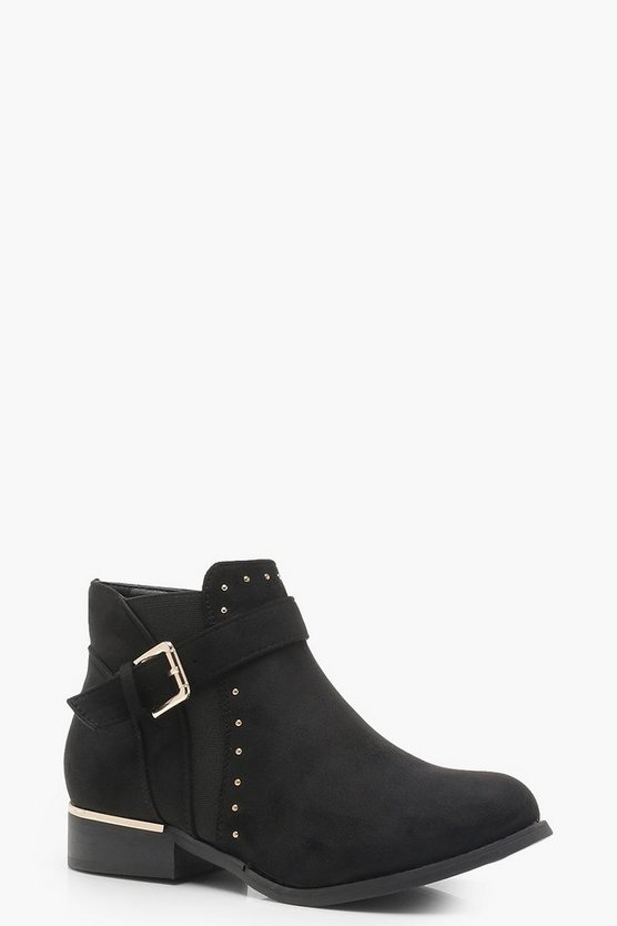 Buckle and Stud Chelsea Boots