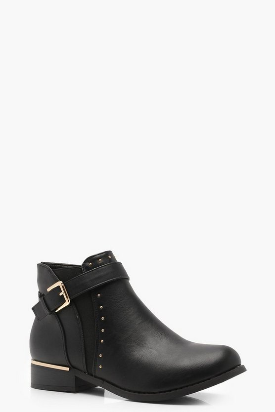 Maria Buckle and Stud Chelsea Boots