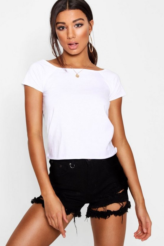 Basic Cap Sleeve T-Shirt