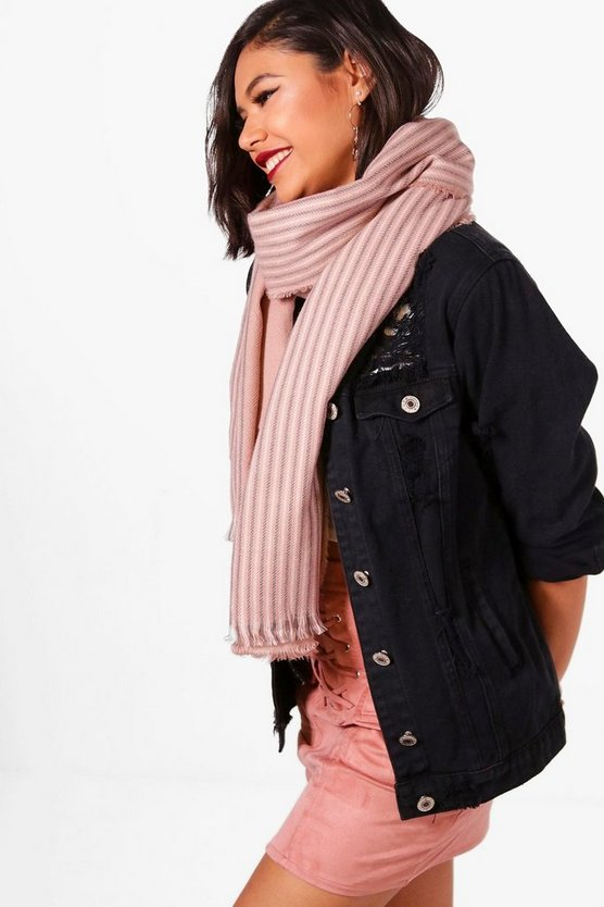 Yasmin Striped Oversized Blanket Scarf