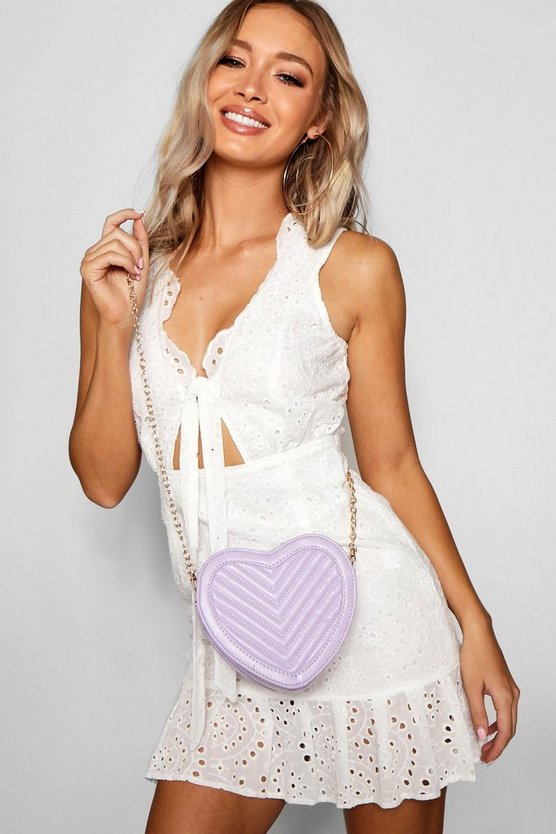 Quilted Heart Cross Body