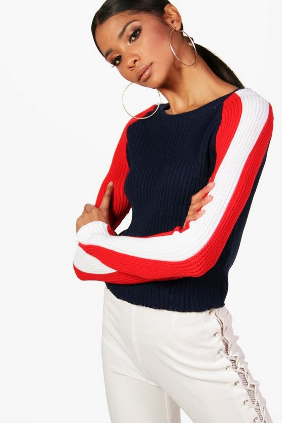 Sophie Stripe Sleeve Jumper