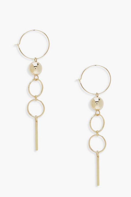 Casey Hoop Bar & Bauble Earrings