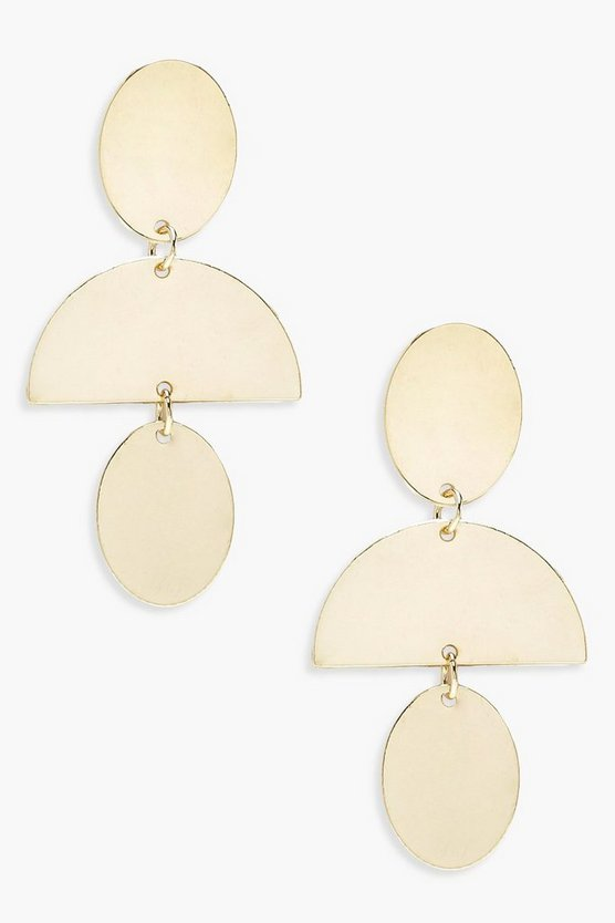 Plate Layered Earrings