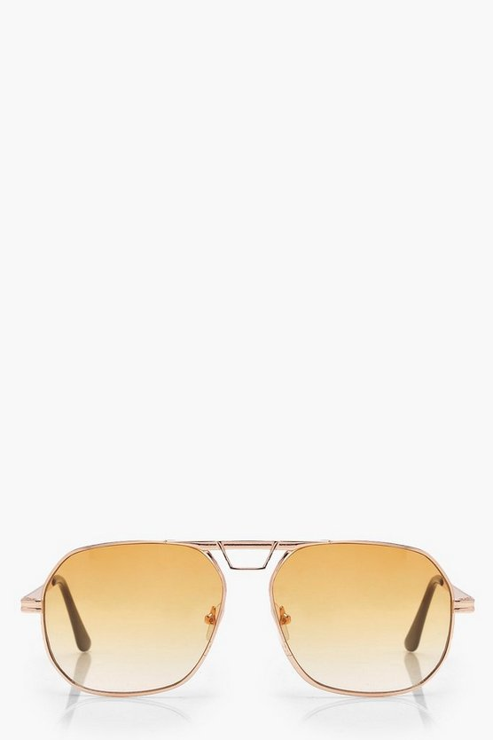 Olivia Coloured Lens Aviator Sunglasses