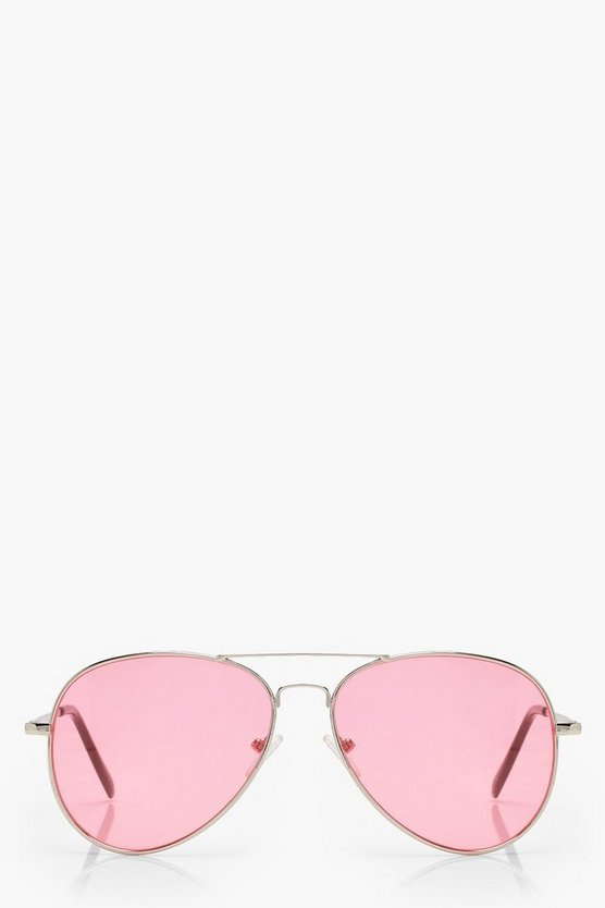 Millie Coloured Lens Aviator Sunglasses