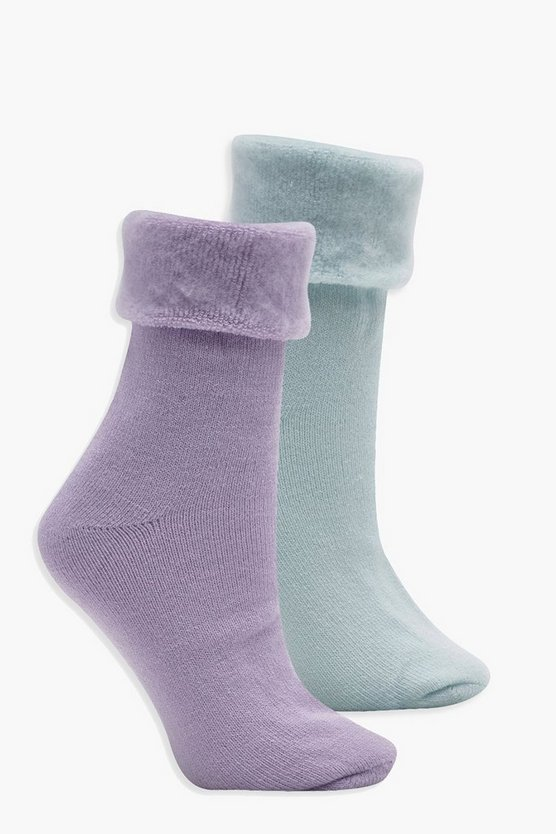 Lucy 2 Pack Cosy Socks