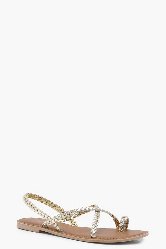 Alice Plaited Strap Leather Sandals