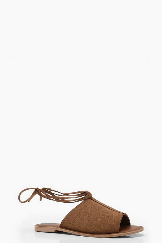 Wrap Up Suede Sandals