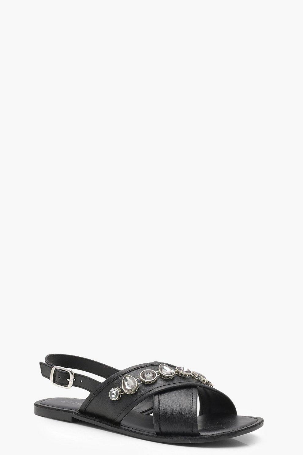 Lexi sandali in pelle impreziositi con cinghiette incrociate A La Venta El Más Barato pVksa