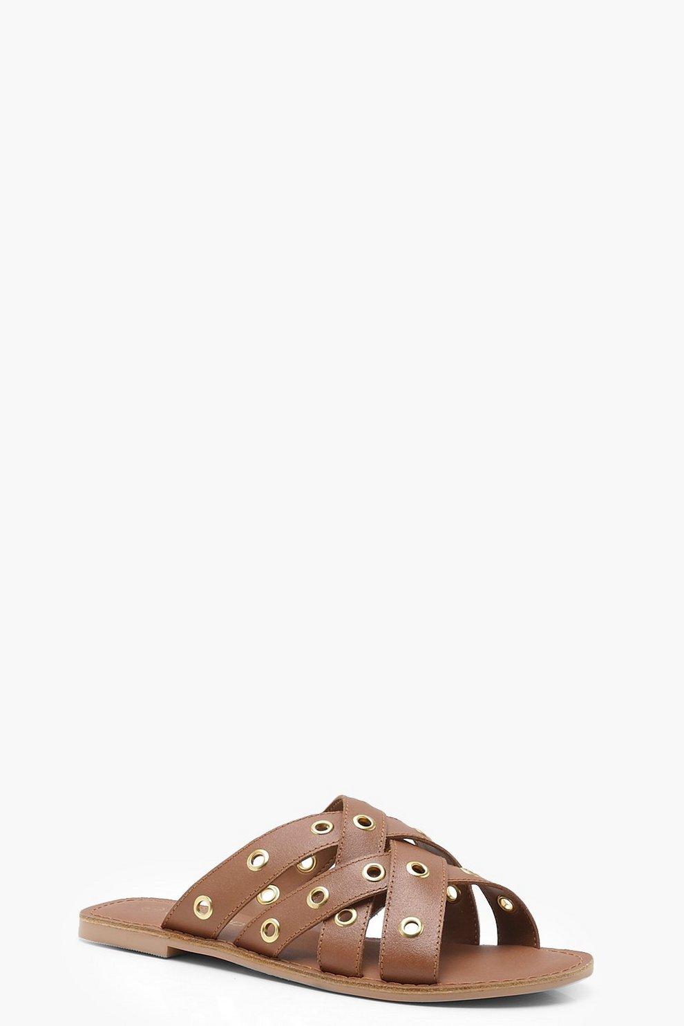Sandali in pelle con cinturino intessuto e occhielli El Pago De Descuento Visa Sitios Web De Venta Online Venta Precios Baratos Pagar Con Visa En Línea Barata znOPnsz