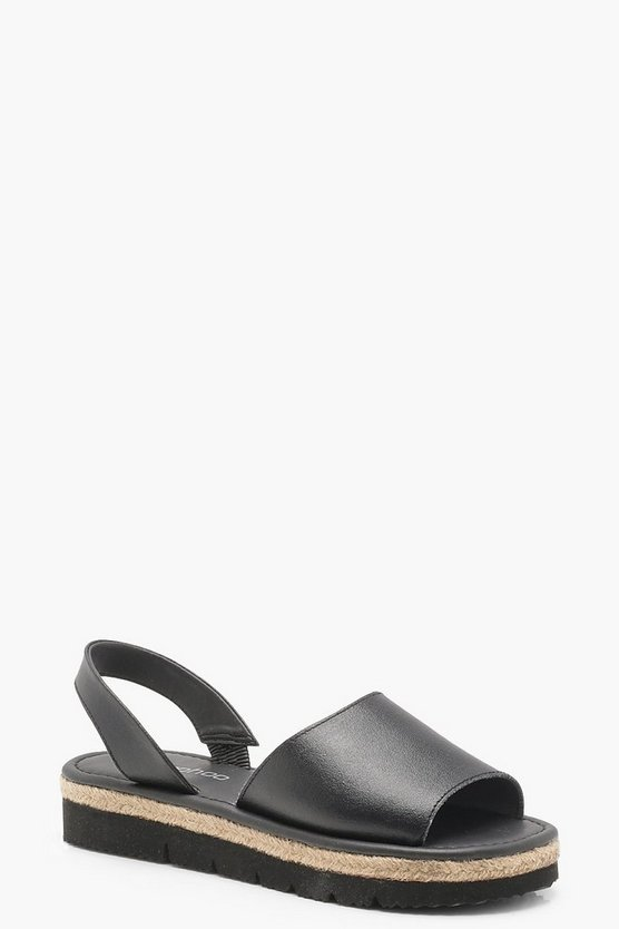 Jessica Peeptoe Two Part Cleated Leather Sandals