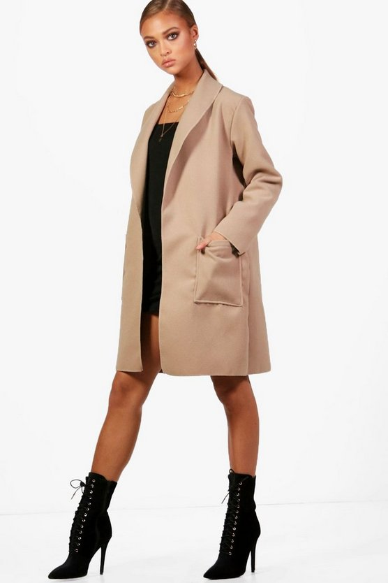 Megan Shawl Collar Boyfriend Coat