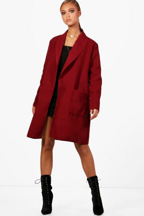Shawl Collar Boyfriend Coat