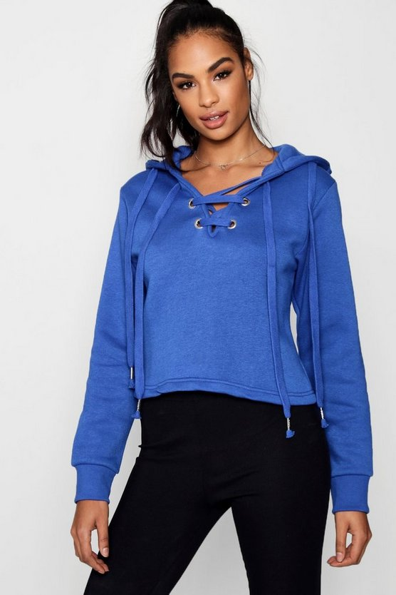 Sasha Athleisure Lace Up Running Hoodie
