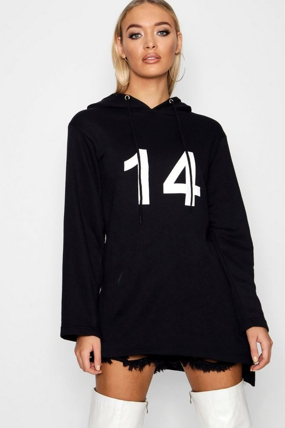 Athleisure Longline Hooded Sweat