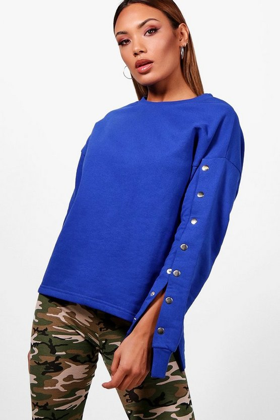 Athleisure Popper Sweat Top