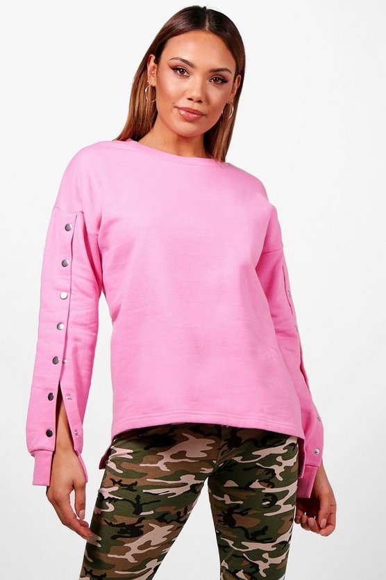 Bella Athleisure Popper Sweat Top