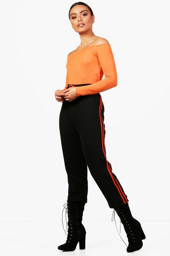 Contrast Side Panel Sweat Joggers