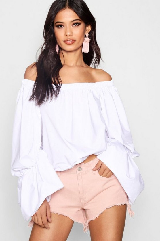 Brooke Ruched Sleeve Blouse