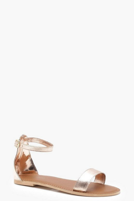 Zoe Wide Fit 2 Part Leather Sandals