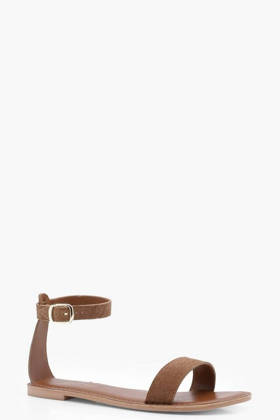 Isabel Wide Fit 2 Part Suede Sandals
