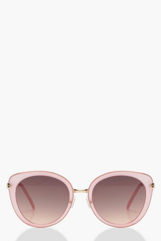 Oversized Blush Frame Sunglasses