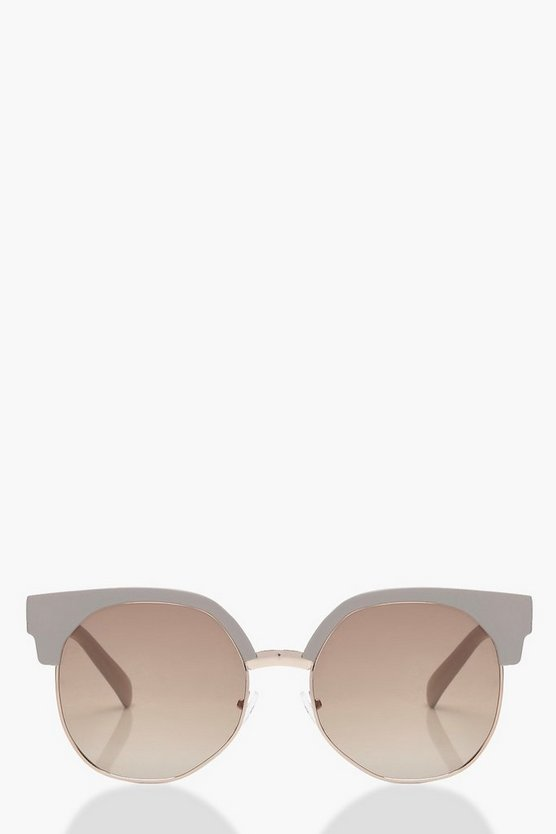 Mia Grey Frame Retro Sunglasses
