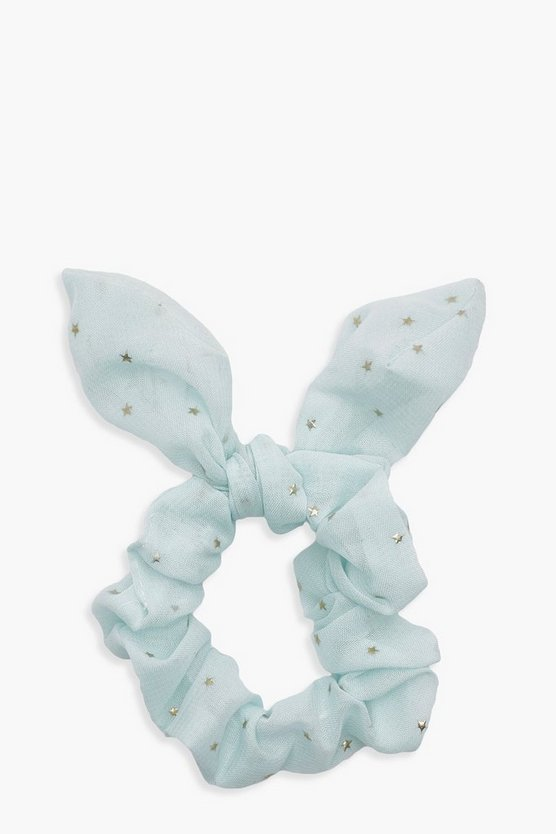 Yasmin Metallic Star Bunny Ear Scrunchie