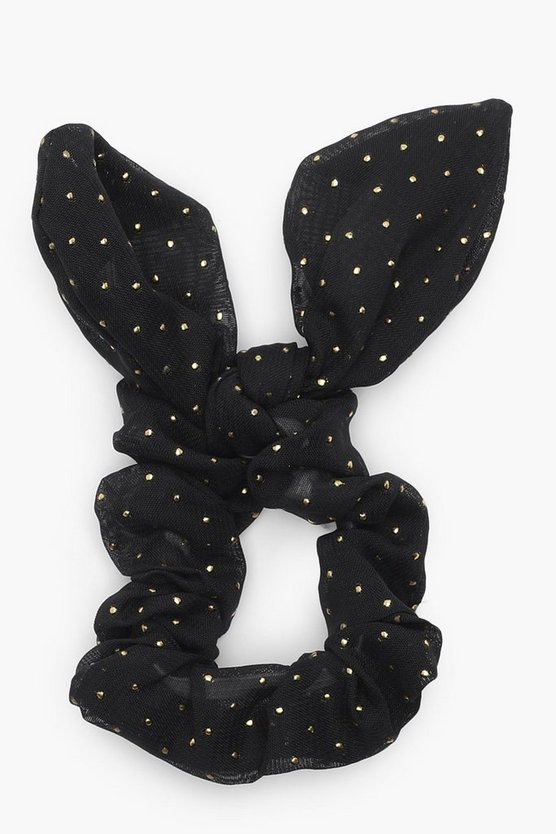 Alex Metallic Star Bunny Ear Scrunchie