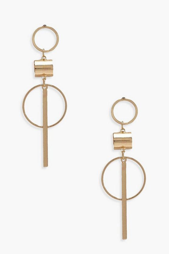 Layla Hoop & Bar Earrings