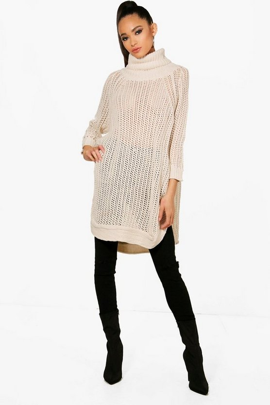 Oversized Ladder Knit Jumper