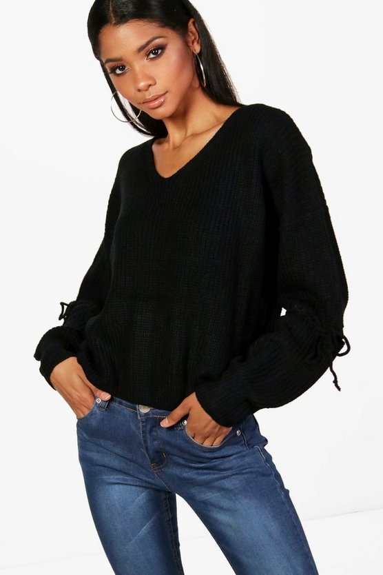 Emma Lace Up Detail Jumper