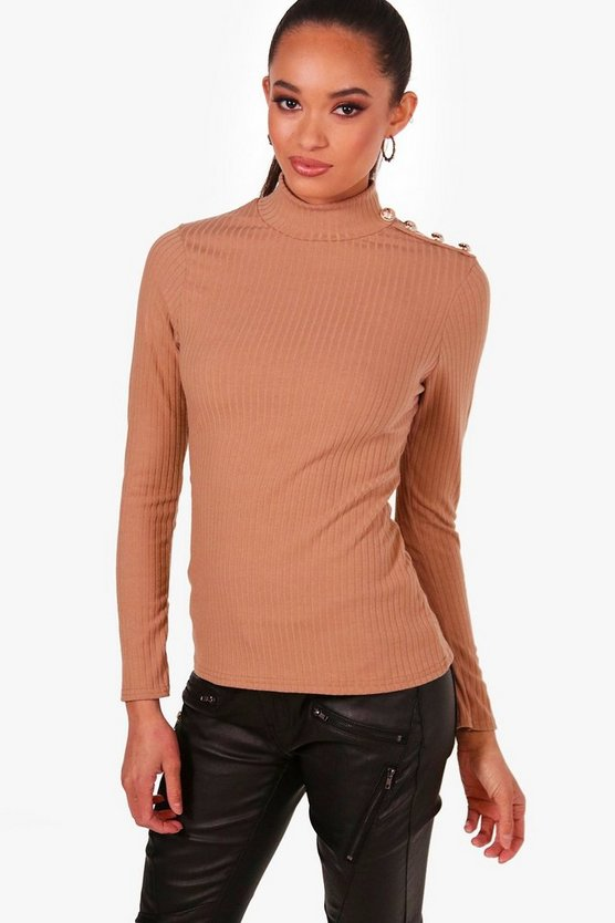 Katie Military Button Detail Jumper