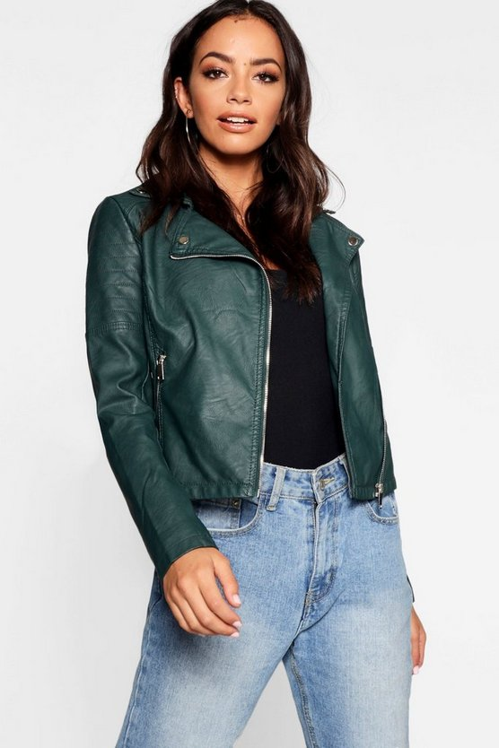 Jade Vegan Leather Biker Jacket