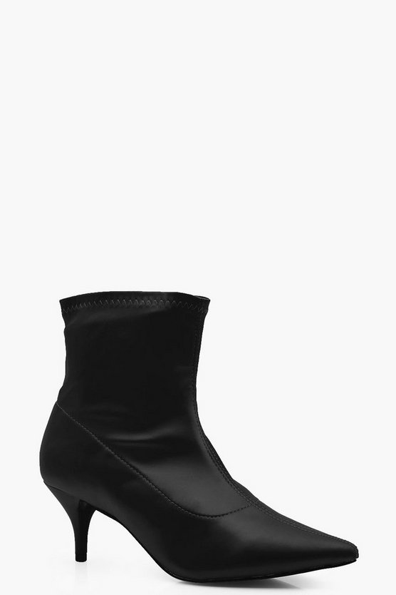 Grace Pointed Kitten Heel Ankle Boot
