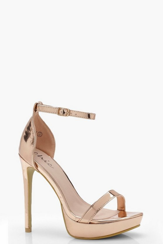 Skye Metallic Platform 2 Part Heels