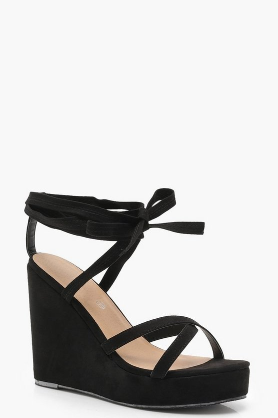Georgia Wrap Strap Wedges