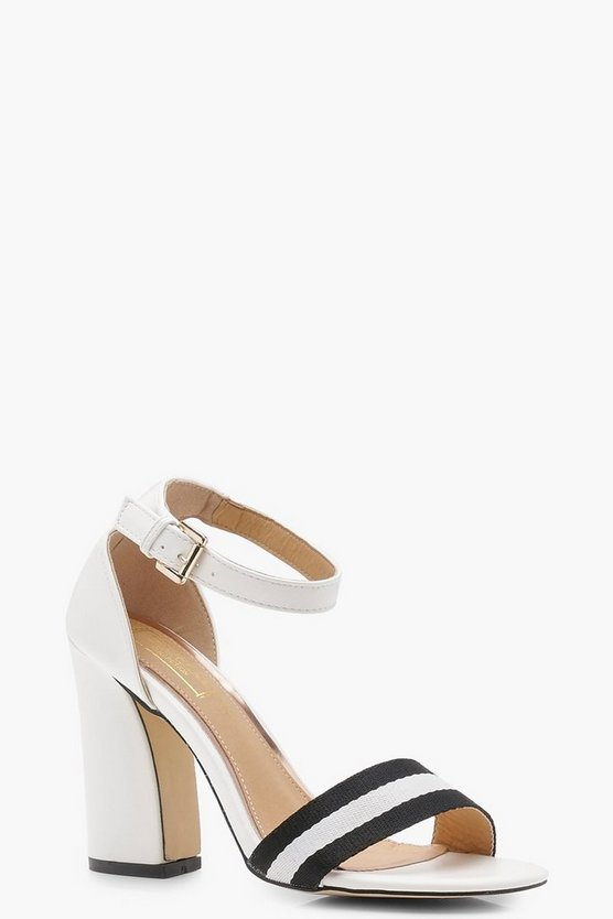 Rose Monochrome Stripe 2 Part Heels