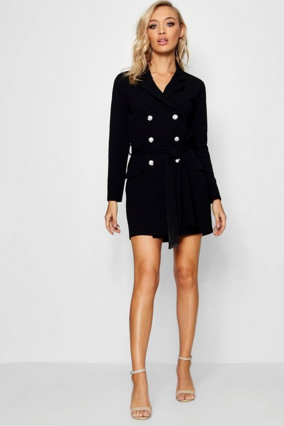 Daniella Double Breasted Belted Blazer Dress