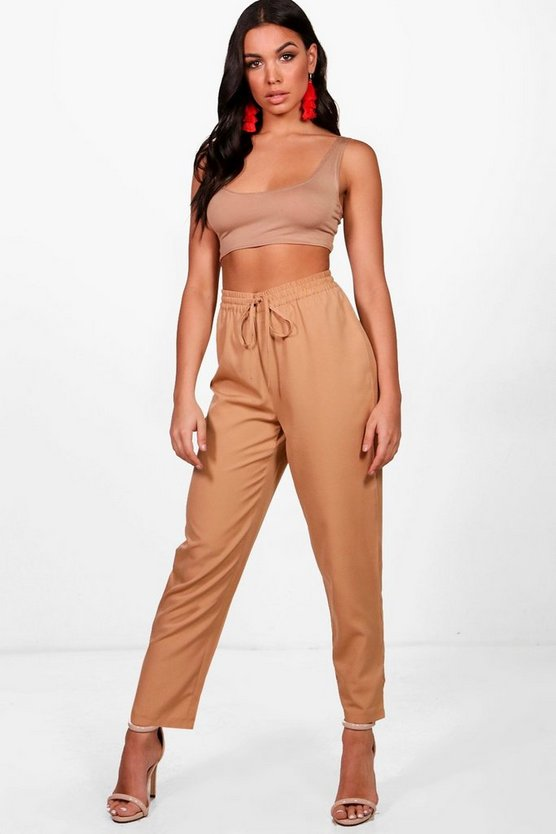 Cara Woven Relaxed Fit Trousers