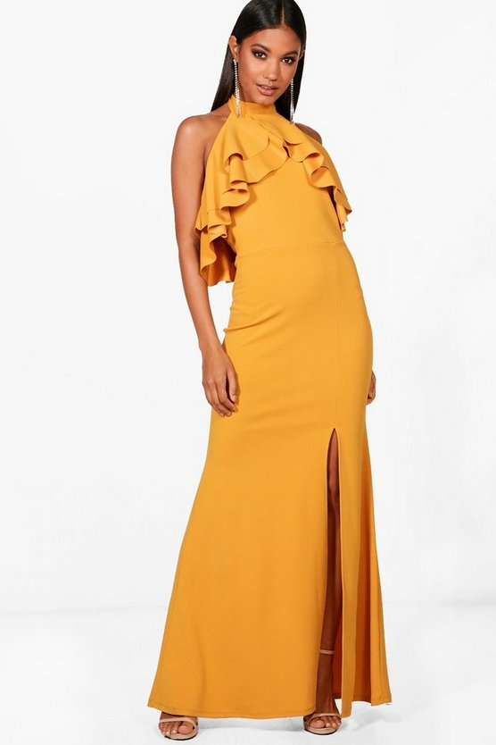 Tanisha Ruffle Detail Maxi Dress