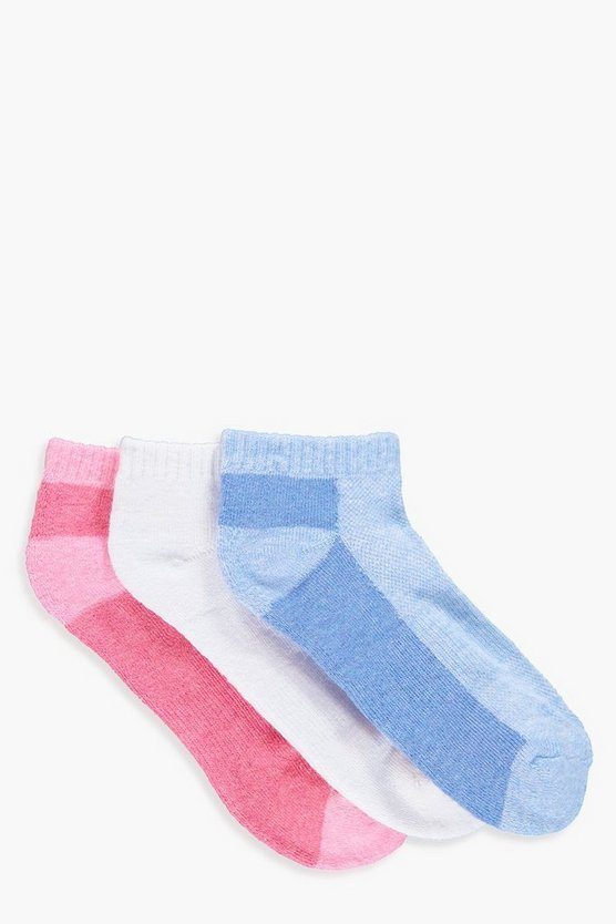 Lily 3 Pack Sports Trainer Socks