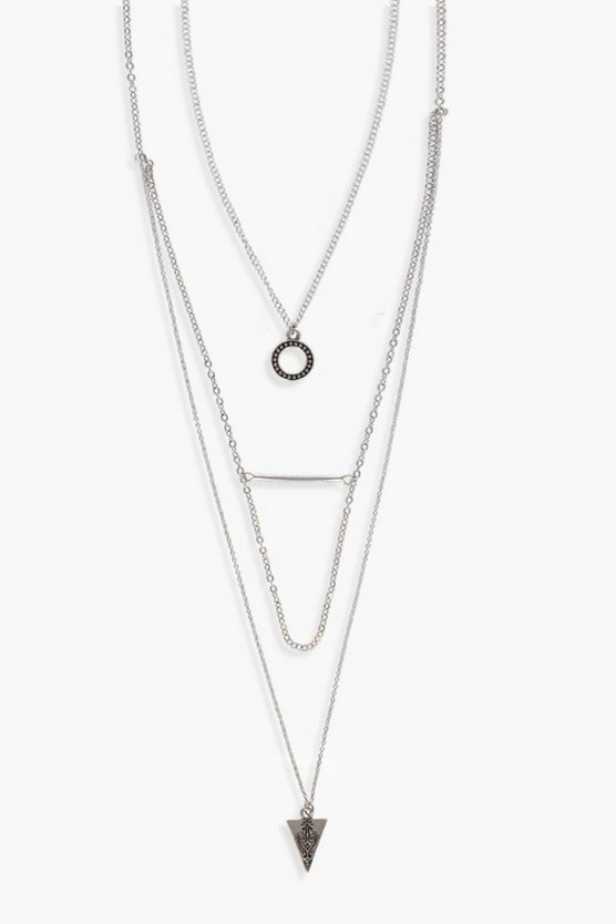 Hannah Layered Trinket Detail Necklace