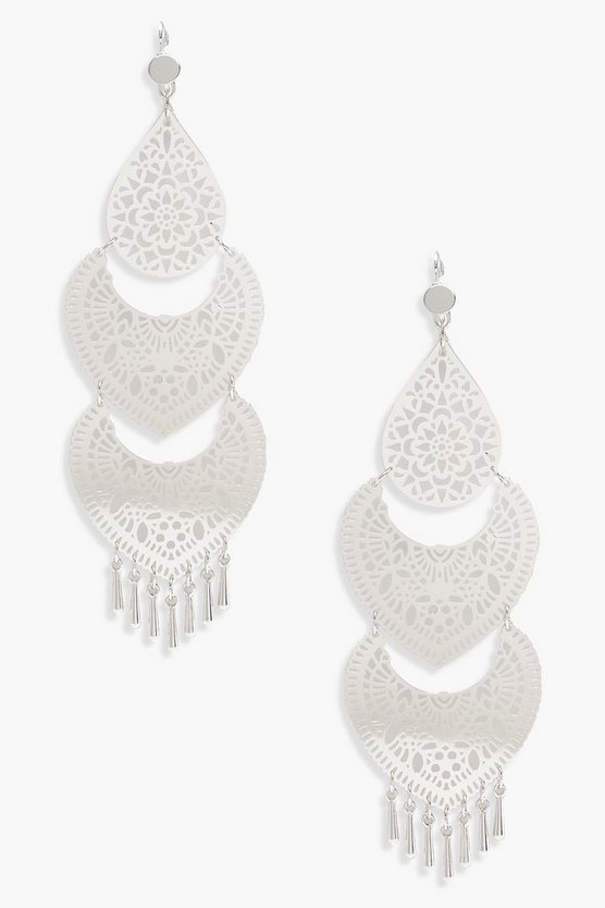 Kate Three Tier Boho Chandelier Earrings