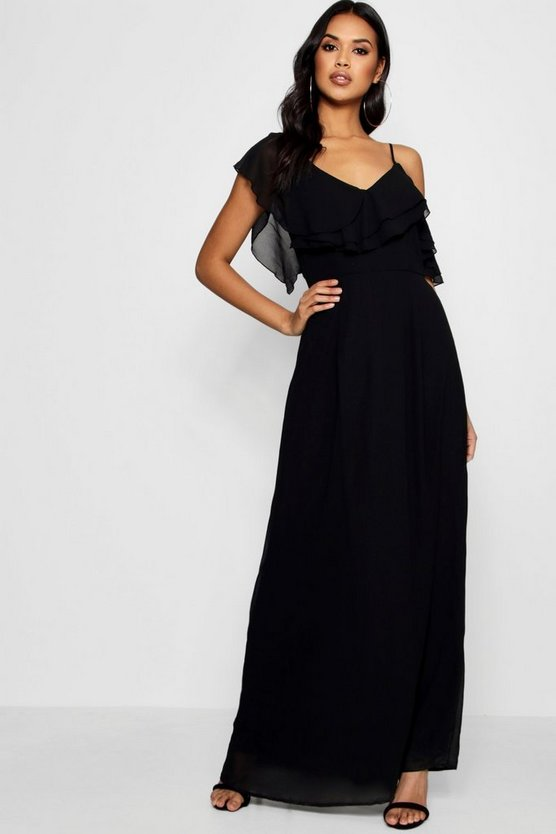 Boutique Frill One Shoulder Maxi Dress