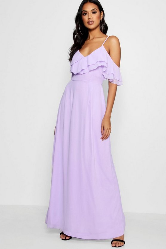 Boutique Tess Frill One Shoulder Maxi Dress