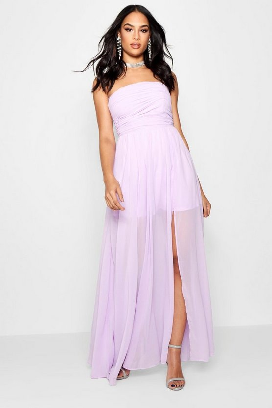Boutique Chiffon Bandeau Maxi Dress