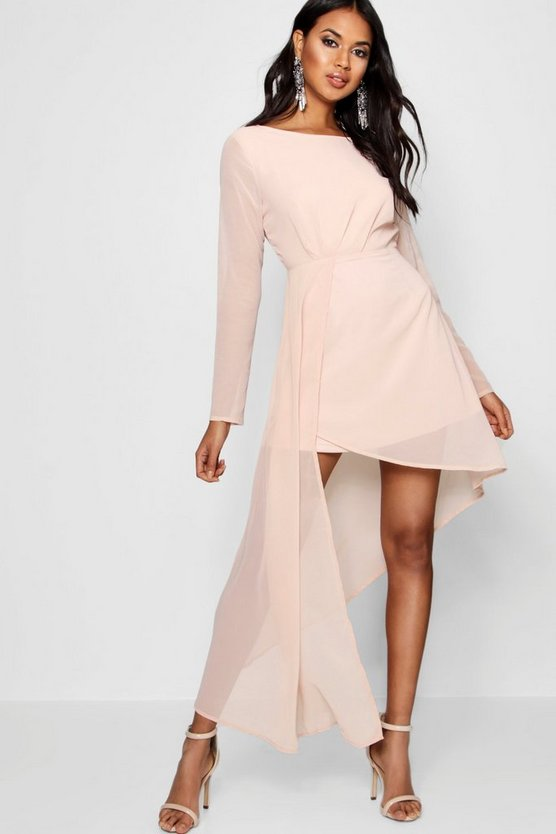 Boutique Debbie Chiffon Drape Fitted Dress