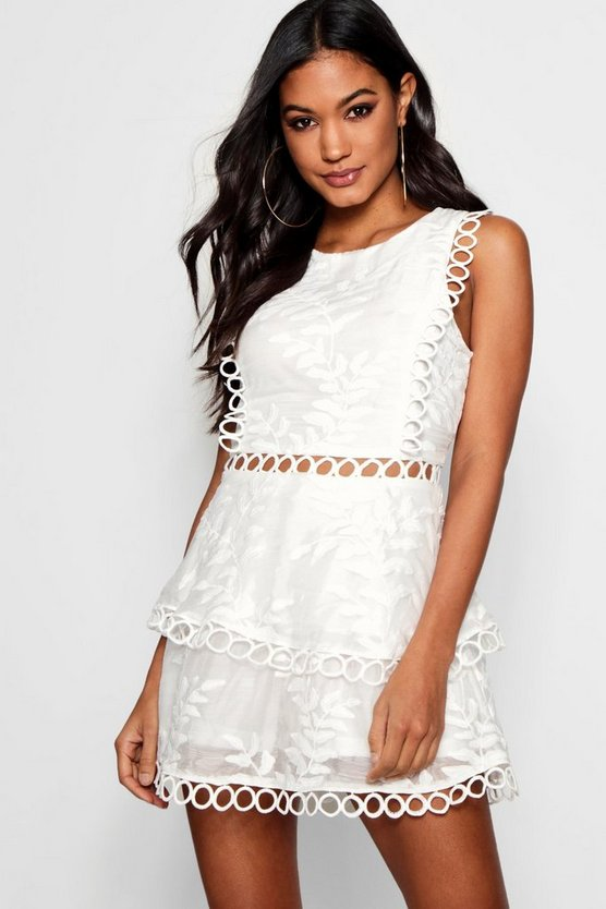 Boutique Harriet Crochet Detail Playsuit